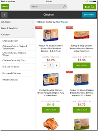 Online Grocery Shopping for Home Delivery with Peapod